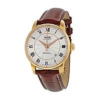 Mido MIDO-M86002218 Baroncelli Reloj analógico automático suizo de color marrón para hombres