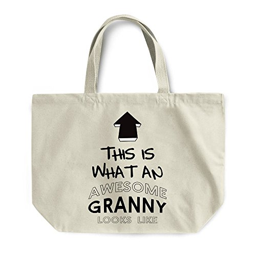Awesome Bag Natural Maxi Gym For Grandma Shopping Gift Beach Granny xxRUwP
