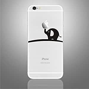 Lechely iPhone 6 Plus 5.5 inch Back Creative Sticker Black and White Personalized Stickers For iPhone 6 Plus (Elephant)