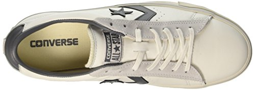 Converse Pro Leather Vulc Distressed Ox, Sneakers Mixte Adulte, Blanc (Star White/Thunder/Mouse), 35.5 EU