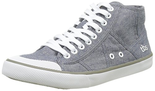 TBS Technisynthese Vogues V7, Zapatos de Cordones Derby para Mujer Gris (Chambray)