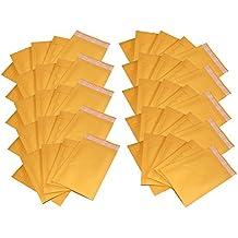 iMBAPrice #000 4 X 8 Kraft Bubble Mailers Padded Envelopes, Total 50 Envelope