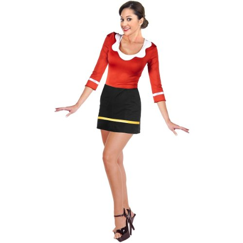 Charades Women's Olive OYL Costume Dress,