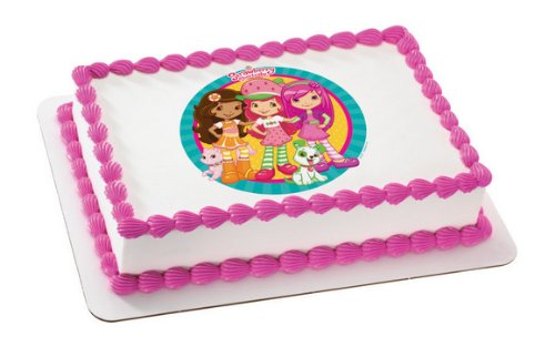 Strawberry Shortcake & Friends Personalized Edible Cake Image Topper by Deco