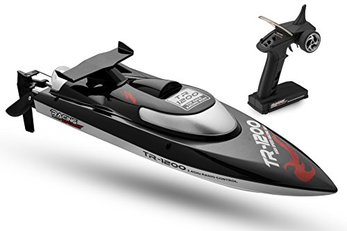 Top Race Remote Control RC Boat, Speed of 30 Mph, Auto Flip Recovery, 2.4 Ghz Transmitter, Professional Series