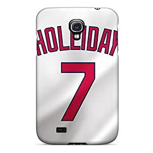 CharlesPoirier Samsung Galaxy S4 Bumper Cell-phone Hard Cover Unique Design Trendy St. Louis Cardinals Pattern [xMx9006fgtz]