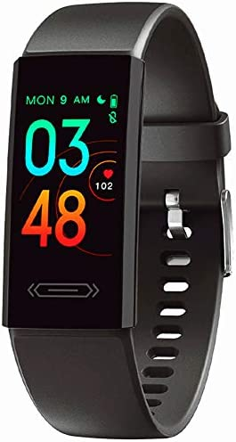 2021 Version Fitness Tracker with Body Temperature Heart Rate Blood Pressure Sleep Health Monitor, IP68 Waterproof Activity Tracker, Step Calorie Counter Pedometer Watch for Men Women Teens