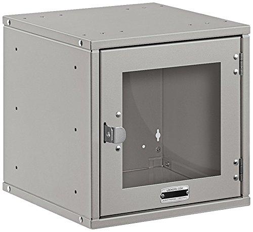 Salsbury Industries Modular Locker with Window Door, 12-Inch, Gray