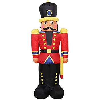 Home Accents Holiday 65 in. LED Lighted Tinsel Nutcracker ...   Lighted Nutcracker Soldier