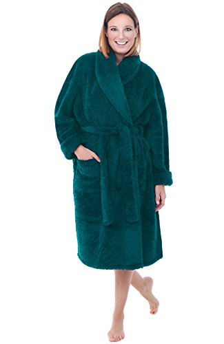 Del Rossa Super Plush Microfiber Teal Bathrobe, Teal 3X/4X (A0302TEA4X)