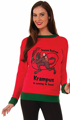Forum Krampus Ugly Christmas Sweater, Multi, Large]()