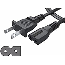 [UL Listed] Pwr+ IEC320 C7 to NEMA 1-15P 3Ft 2 Prong Polarized 2 Slot Power Cord for Arris Router Modem; Vizio Sharp Sanyo Emerson TV; Sony PlayStation 1 2 PS1 PS2; Bose Companion 3 5 Speaker AC Cable