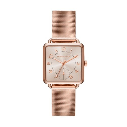 Michael Kors Women's Quartz Stainless Steel Casual Watch, Color:Rose Gold-Toned (Model: - Women Mk