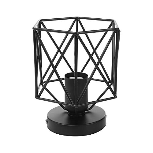 Lisin Metal Cage Ceiling Light Industry Vintage Home Pedant Lighting Bulb Included Home Decor E27 for Bedroom, Hallway, Bar, Kitchen, - Shades Square 2 Tier Chandelier