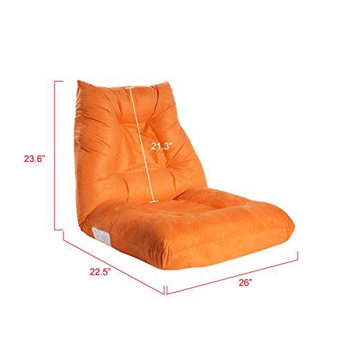 Lz Leisure Zone Adjustable 5 Position Folding Floor Chair