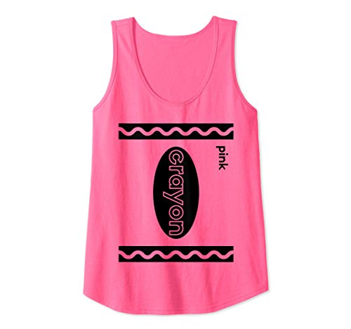 Womens Funny Last Minute Group Costume Halloween Idea | Pink Crayon Tank Top