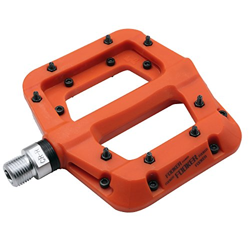 3 Bike Pedals Mountain (FOOKER MTB Bike Pedal Nylon 3 Bearing Composite 9/37 Mountain Bike Pedals High-Strength Non-Slip Bicycle Pedals Surface for Road BMX MTB Fixie Bikesflat Bike)