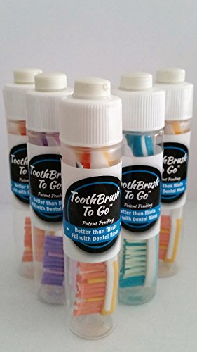 Manual Travel Toothbrush in a bottle, Version 1.0, Multi (5 PACK) - ToothBrush to ()