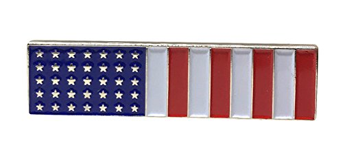 USA Proudy Patriotic American Flag Bar - Standard Official US Lapel Pin
