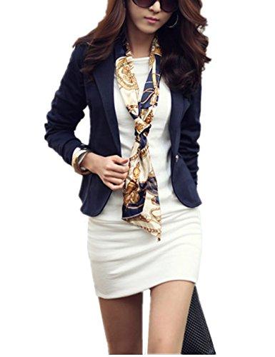Costume Outwear Blouson Casual Style Courte Veste YOSICIL Coupe Chic Femme Manteau OL Cintr Printemps Petit Tg7xYqBw