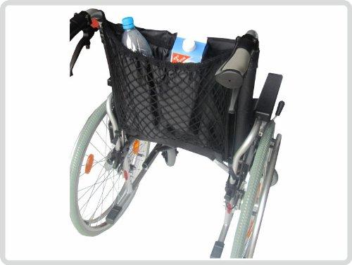 Rollstuhlnetz Einkaufsnetz mit Innenfutter, schwarz