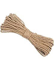 CC CAIHONG 100% Natural Thick Strong Jute Rope 3 Ply Hemp Rope Cord for Arts Crafts DIY Decoration Gift Wrapping