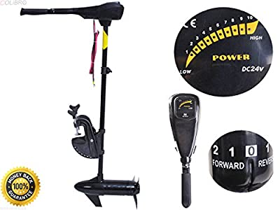 "COLIBROX--New 46lbs Freshwater Transom Mounted Trolling Motor 36"" Shaft,trolling motor saltwater,cheap trolling motor,best saltwater trolling motor,trolling motor walmart,trolling motor"
