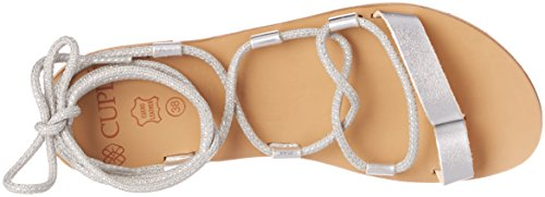Cuple Romana Plata, Women's Sandals with Ankle Strap Silver