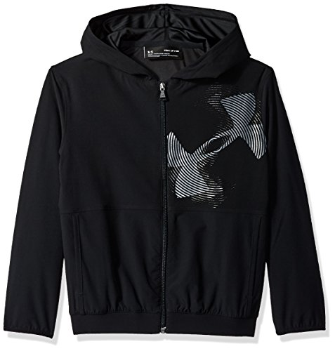 Under Armour Boys Jersey Lined Woven Jacket, Black (001)/Black, Youth Large