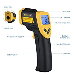 Etekcity Lasergrip 774 Non-contact Digital Laser Infrared Thermometer Temperature Gun -58?~ 716? (-50? ~ 380?), Yellow and Black