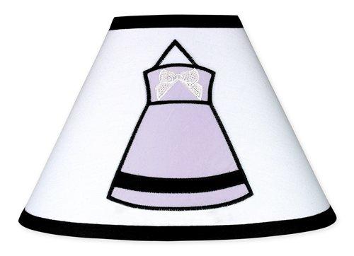 Purple, Black and White Princess Lamp (Princess Collection White Finish)