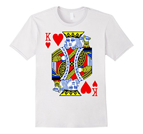 A Deck Of Cards Costume - Mens Deck Of Cards Halloween Costume King Of Hearts Matching Large White