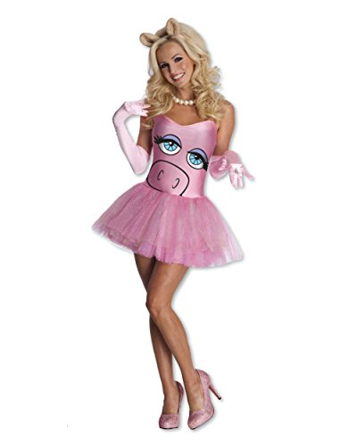 Secret Wishes  The Muppets Miss Piggy Costume Dress, Pink, X-Small