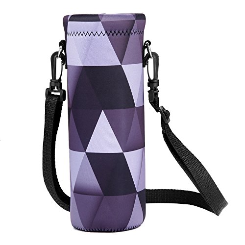 - AUPET Water Bottle Carrier,Insulated Neoprene Water bottle Holder Bag Case Pouch Cover 1000ML or 750ML,Adjustable Shoulder Strap, Great for Stainless Steel and Plastic Bottles
