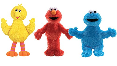 GUND Sesame Street Plush Animal Trio Set, Big Bird/Elmo/Cookie Monster (Sesame Street Stuffed Animals)