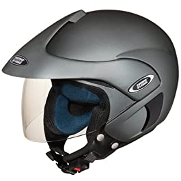 Studds Marshall Open Face Helmet (Matt Gun Grey, L)
