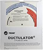Trane TD1  Ductulator with Sleeve, Duct Sizing Calculator