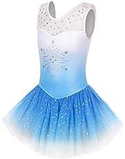 Skirted Leotards for Girls Toddlers Gymnastics Dance Ballet Tutu Tulle Skirt Sparkly Unicorn Mermaid Butterfly Dress