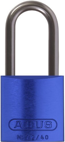 ABUS 72HB/40-40 KD Safety Lockout Aluminum Keyed Different Padlock with 1-9/16-Inch shackle, Blue by ABUS
