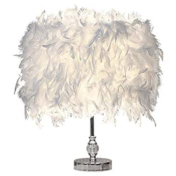 Lights & Lighting Careful House Heart Shape White Feather Deco Table Lamp Crystal Bedside Table Lamp For Bedside Reading Room Sitting Room With Plug Modern And Elegant In Fashion