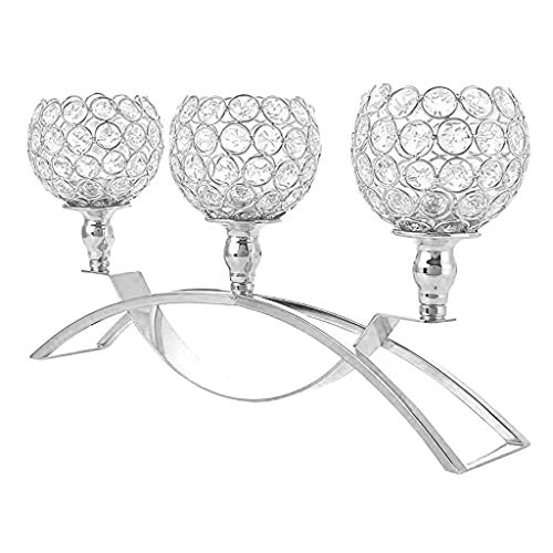 - Kuerqi Gold Crystal Candle Holders / 3-Candle Candelabras,Coffee Table Decorative Centerpieces for Living Room/Dinning Room Table Decoration, Mothers Day Wedding Gifts