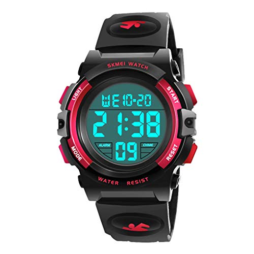 Birthday Gifts for 6-12 Years Old Boys, Dreamingbox Waterproof Sports Watch for Boys Digital Watch for Boys Kids Watches Waterproof Cool Toys for 6-13 Year Old Boys Girls Wrist Watch Red MMXSB04