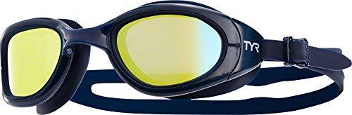 TYR Special Ops 2.0 Polarized Goggles, Gold/Navy, One - Swim Triathlon Goggles