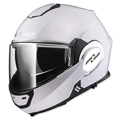 LS2 Helmets Motorcycles & Powersports Helmet's Modular Valiant (White, XX-Large)]()