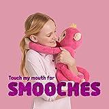 WowWee Fingerlings HUGS - Bella (Pink) - Advanced Interactive Plush Baby Monkey Pet
