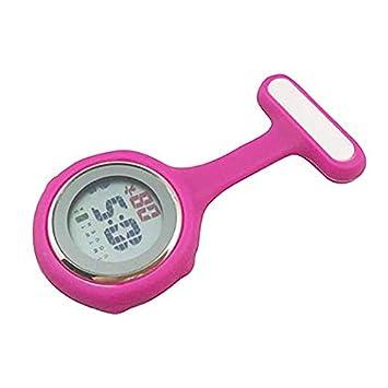 Mujeres Relojes Digitales De La Enfermera, Luces De Noche Cronómetros,Pink: Amazon.es: Hogar