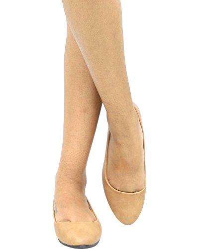 Wells Womens SARA-19 Foam Sock Flats Tan LpWitPNdhX