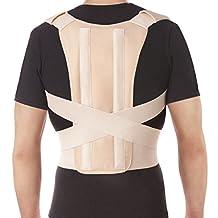 """TOROS-GROUP Posture Corrector Brace - Back Shoulder Clavicle Support - Medium, Waist/Belly 31.5"""" - 35.5"""" Beige"""
