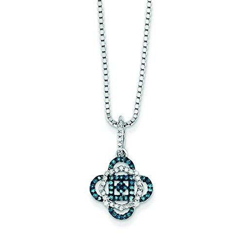 Argent 925/1000-Bleu et blanc diamant-JewelryWeb bruts