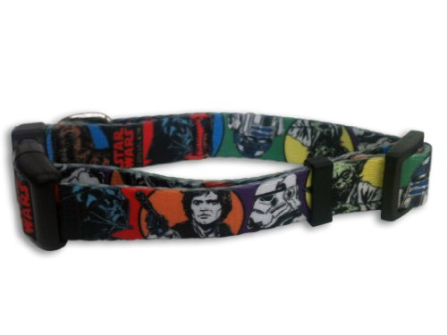 Platinum Pets Star Wars 1-Inch Nylon Collar, Classic Design